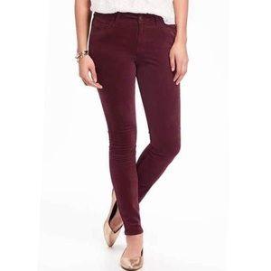 Old Navy Rockstar Red Velvet/ Corduroy Jeans